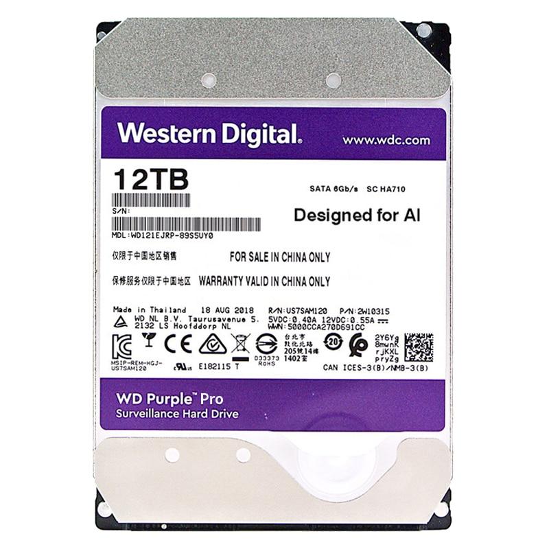 الغربية الرقمية WD الأرجواني 12 تيرا بايت برو 3.5
