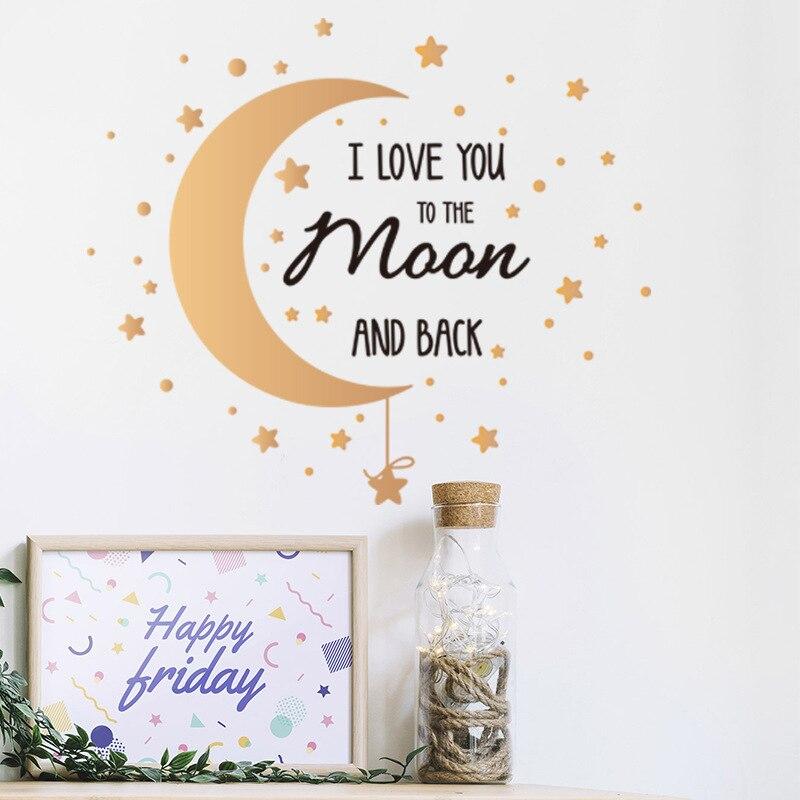 Pegatinas de pared decorativas para dormitorio, varita con texto de estrellas y...