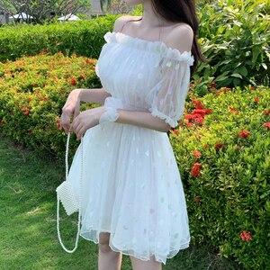 Women's 2020 New Summer Waist Hugging Medium-Length Dress  Fashion fairy dress tea party lolita dress sweet lolita doll