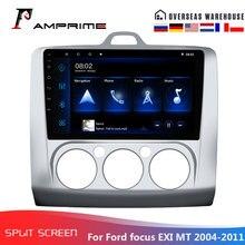 AMPrime 안드로이드 자동차 스테레오 라디오 포드 포커스 Exi MT 2004-2012 2Din 멀티미디어 비디오 플레이어 GPS 네비게이션 블루투스 카 오디오