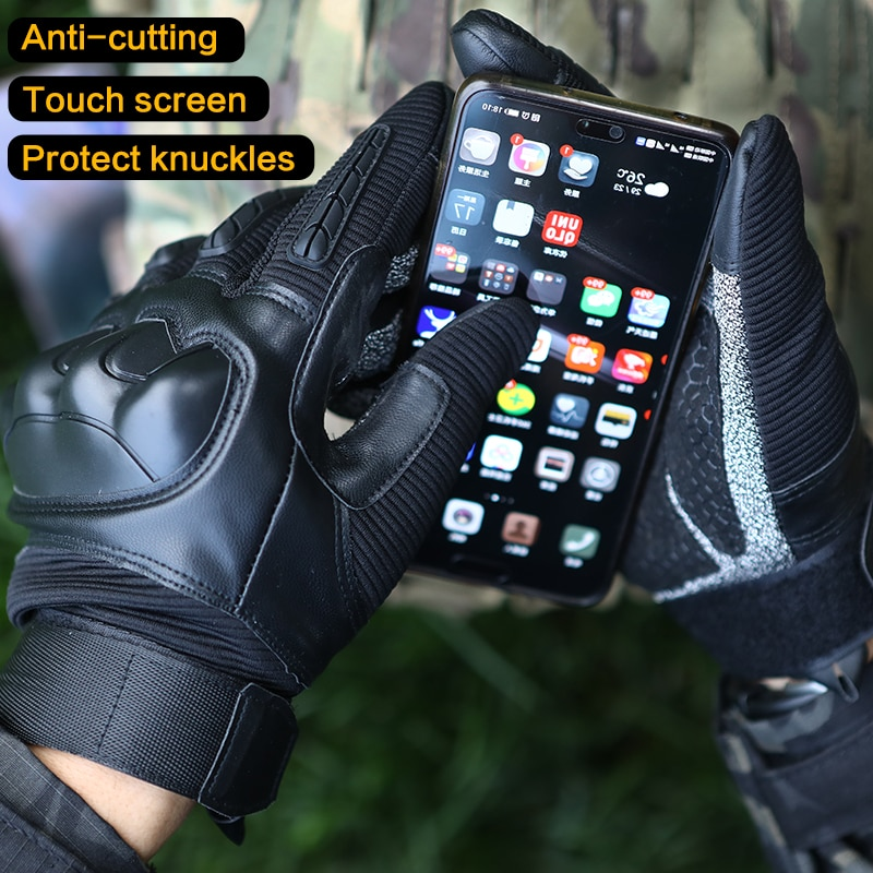 ANTARCTICA Cut-resistant Tactical Gloves Combat Military Hiking Hunting Touchscreen Motorcycle Paintball Work Fingerless Mittens