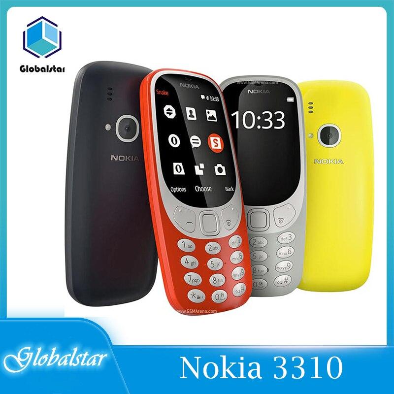 هاتف نوكيا 3310 2G (2017) هاتف محمول أصلي مجدد بشريحتين/شريحتين 2.4 بوصة 2G GSM هاتف خلوي أصلي مفتوح 3310 2017