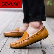 Real Leather Loafers Shoes Slip on Men Casual Shoes Spring Summer New 2020 Breathable Fashion Soft F