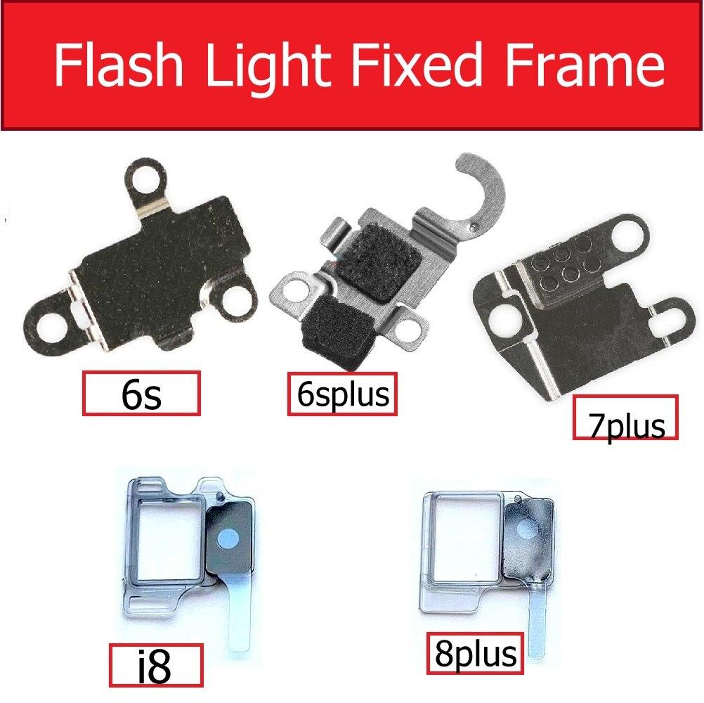 Marco fijo de luz de Flash para iphone 6s 7 8 Plus soporte de marco de luz de Flash Cable flexible piezas de repuesto de reparación