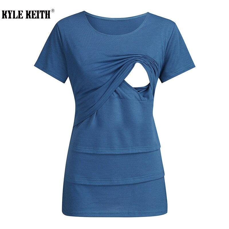 Camiseta de lactancia de talla grande para mujer, Top de lactancia a...