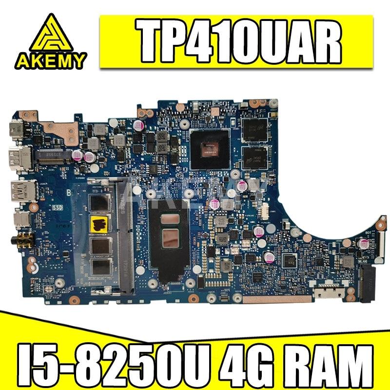 Placa base Akemy TP410UAR 4G/I5-8250U para For Asus viviobook Flip 14 TP410UR TP410UF TP410U tp410au placa base para ordenador portátil