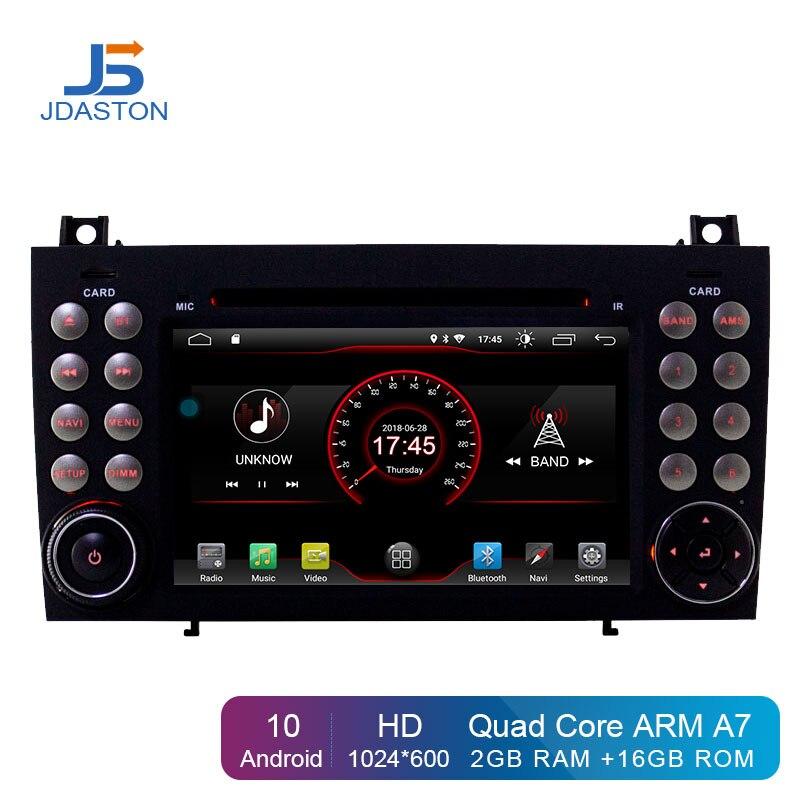 JDASTON Android 10,0 в тире 2 Din Автомобильный dvd-плеер для Mercedes Benz SLK R171 SLK230 W171 Автомобильный GPS Радио Аудио мультимедиа стерео