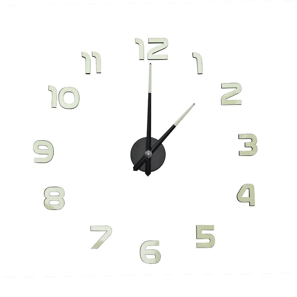 Kit de reloj mural luminoso 3D DIY reloj grande reloj Horloge acrílico espejo pegatinas decoración del hogar sala de estar aguja de cuarzo