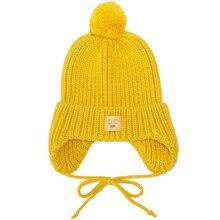 Herbst Neue Warme Stricken Hut Niedlichen Aufkleber Ohrenschützer Ball Kappe Damen Winter Mode Starke Mit Kapuze Baumwolle Hut