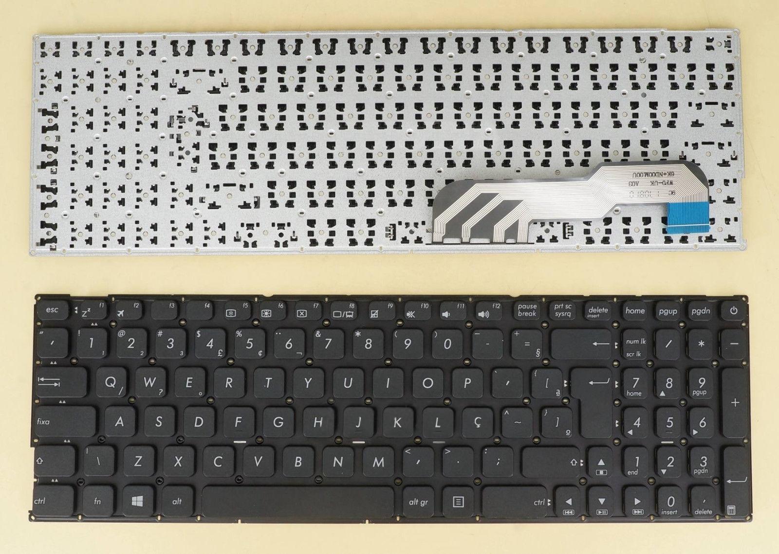 Brasil nuevo portugués teclado para ASUS X541U X541UA X541UAK X541UJ X541UV X541UVK X541N X541NA X541NC X541S X541SA X541 negro