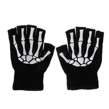Cycling Gloves Kids Outdoor Sports Bicycle Half Finger Skeleton Soft Protective Skeleton cycling hik