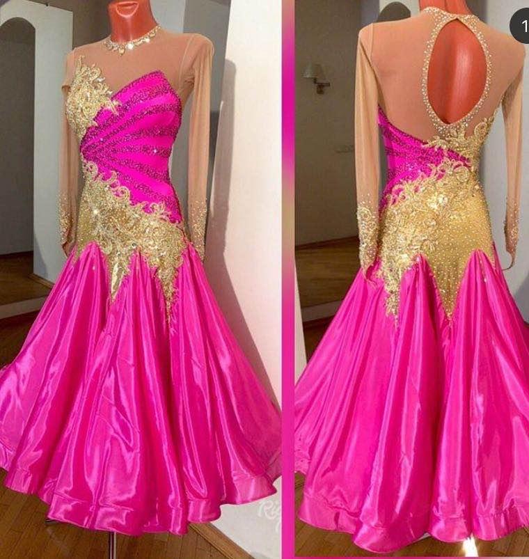 فستان رقص الفالس الحديث ، فستان قاعة الرقص القياسي ، تنورة قاعة الرقص