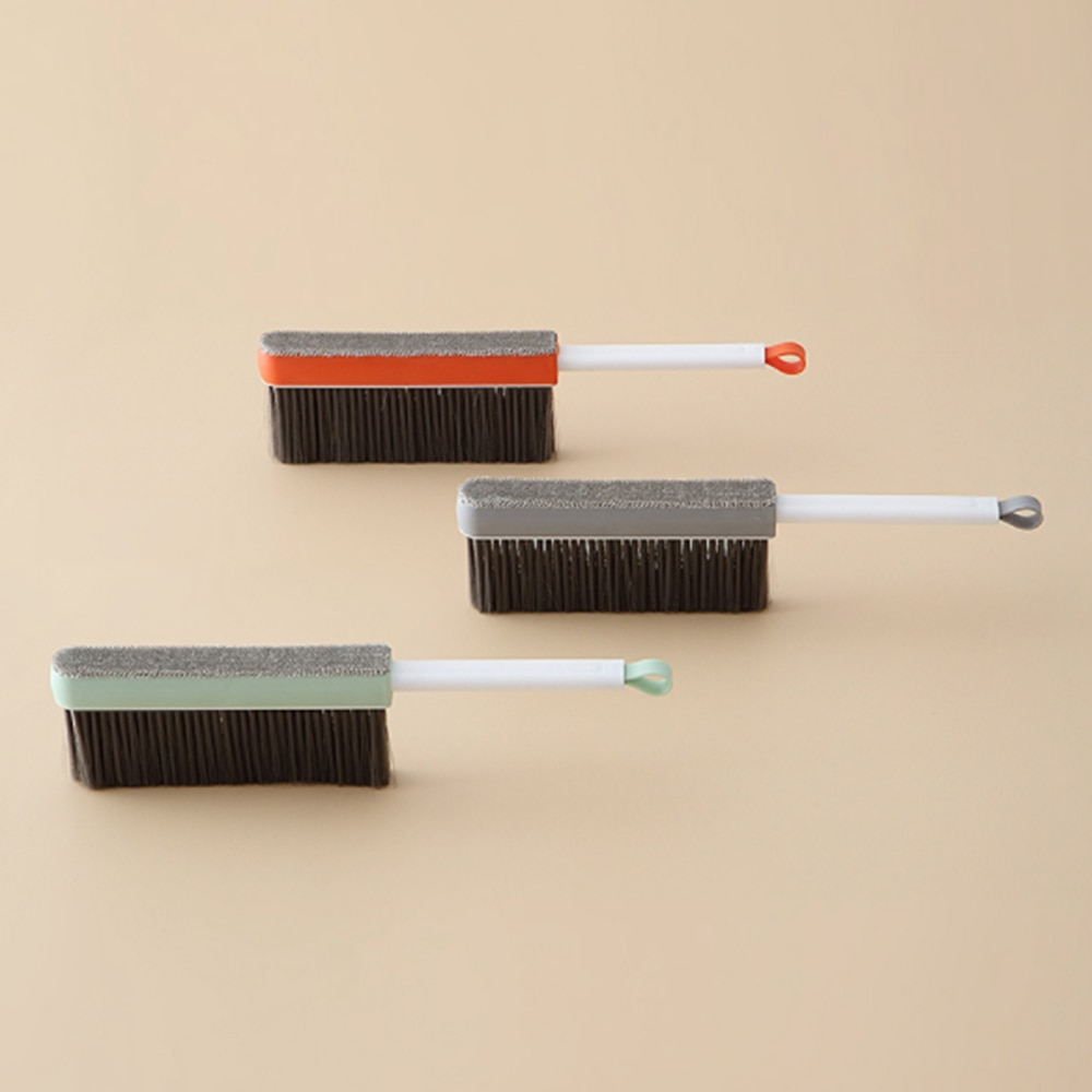 Handle Bed Brush Soft Fur Bedroom Dusting Brush Quilt Sofa Carpet Cleaning Brush Household Sweeping Bed Brush Home Accessories enlarge
