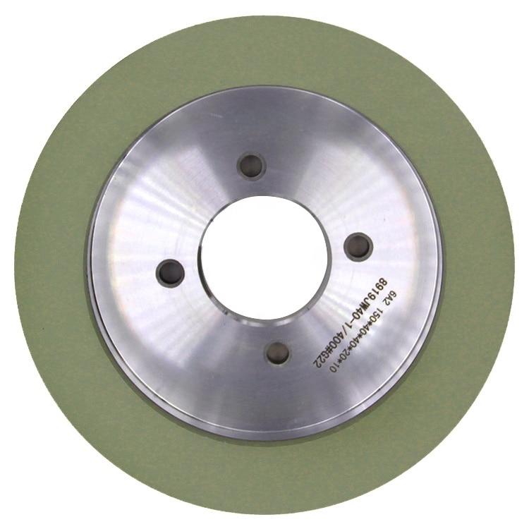 عجلة كأس سيراميك من النوع 6a2 ، لشحذ cvd pcd ، أداة pcbn ، 150 مللي متر ، عجلات ماسية مزججة