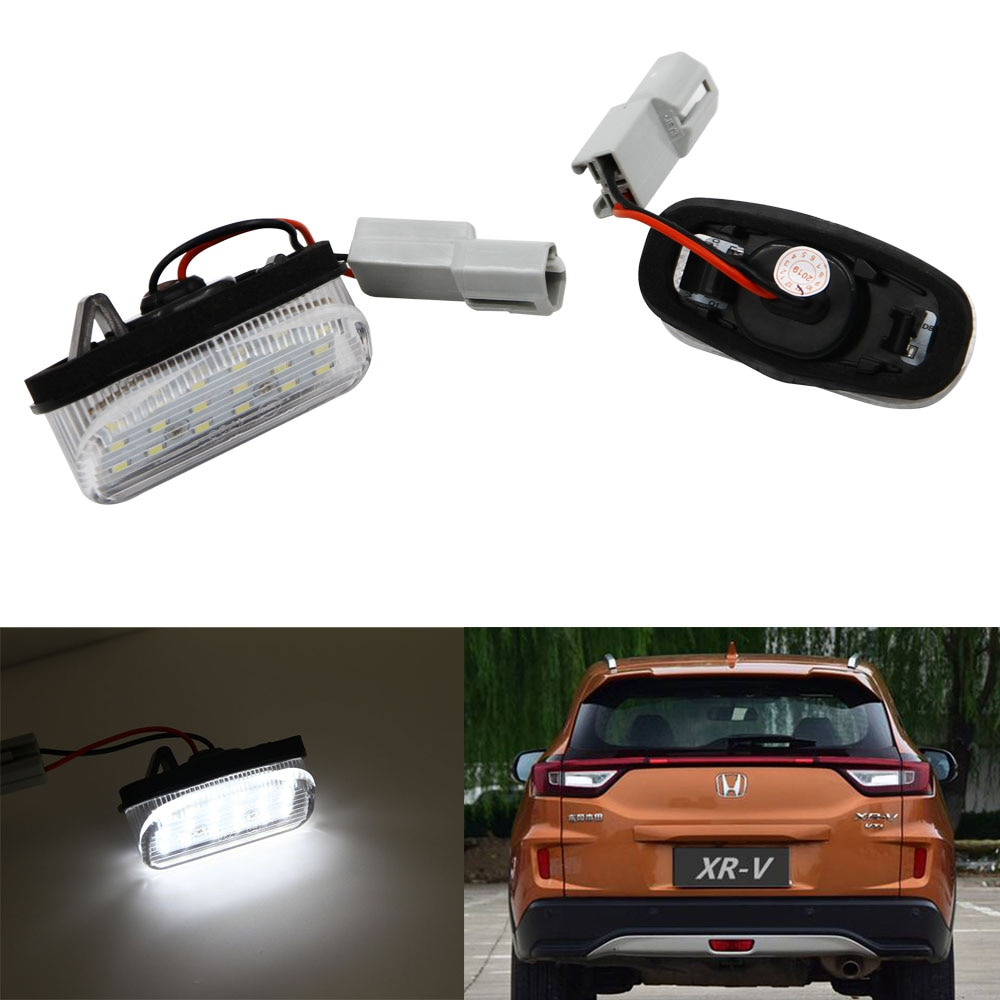 1 par de número de LED luz de placa de licencia xenón blanco para Honda XR-V 2015, 2016, 2017, 2018, 2019