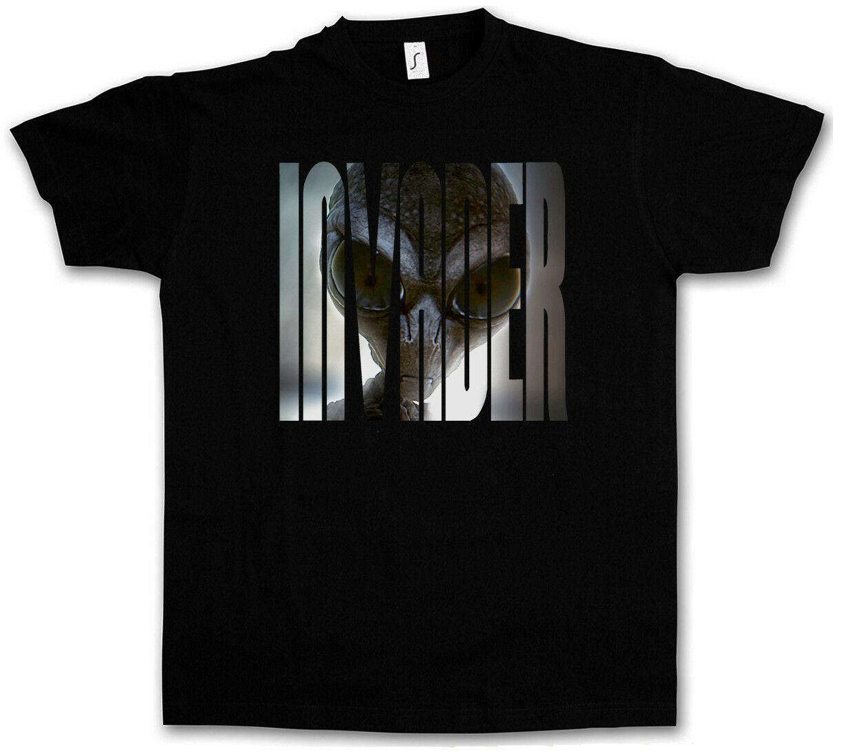 Alienígena gris camiseta de invasor-OVNI Majestic 12 Grey Área 51 TR3B azul libro camiseta libro