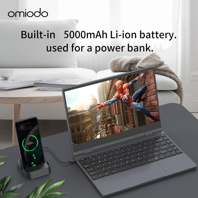 13.3 inch Lapdock Built in Big Battery Type-C USB HDMI monitor for Expand Switch Mobile PC connecting with Huawei Samsung phones