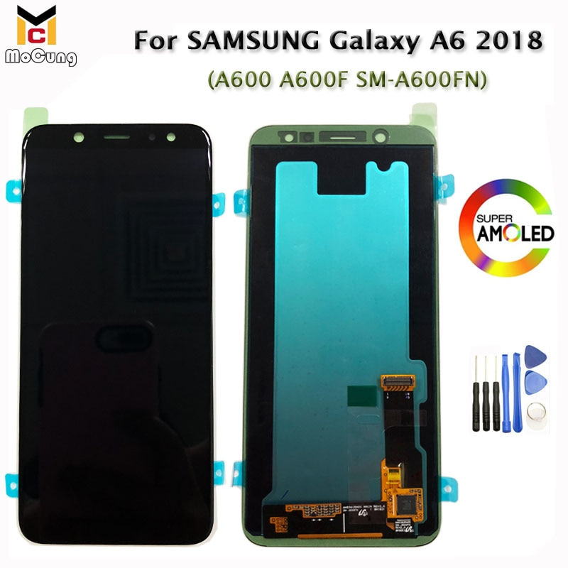 "5,6 ""Super AMOLED A600 LCD Pantalla para Samsung A6 2018 A600F A600G SM-A600FN Pantalla TFT LCD MONTAJE DE digitalizador con Pantalla táctil"
