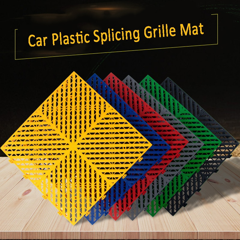 2.5cm Thickened Car Plastic Splicing Grille Mat Car Wash Room 4s Beauty Shop Home Garage Floor Grid