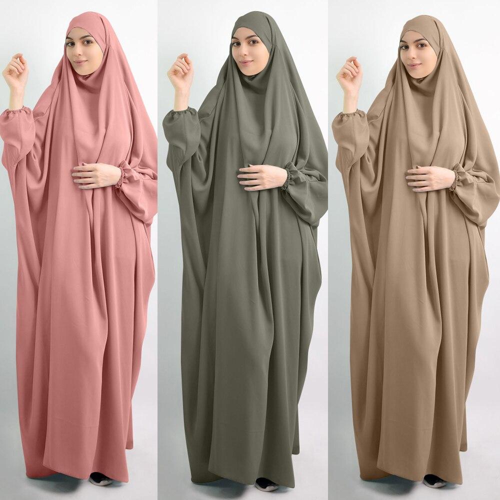 Женское платье, молитвенная одежда с капюшоном, Jilbab Abaya, длинная химановая одежда с полным покрытием, Рамадан, Abaya s, мусульманская одежда