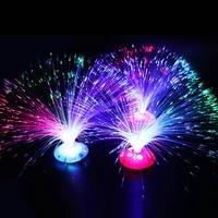 Красочный светодиодный волокно Ночной светильник лампа романтический маленький ночной Светильник для рождественских подарков Красочные ...