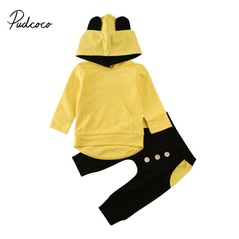 Boutique niños ropa otoño primavera niñas conjunto de manga larga con capucha camisetas + Pantalones chándal ropa para niños chándal