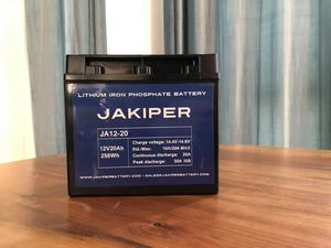 JAKIPER LiFePO4 12V 20Ah Lithium Iron Phosphate Battery Pack  (BMS Included),Lead Acid Battery Replacement