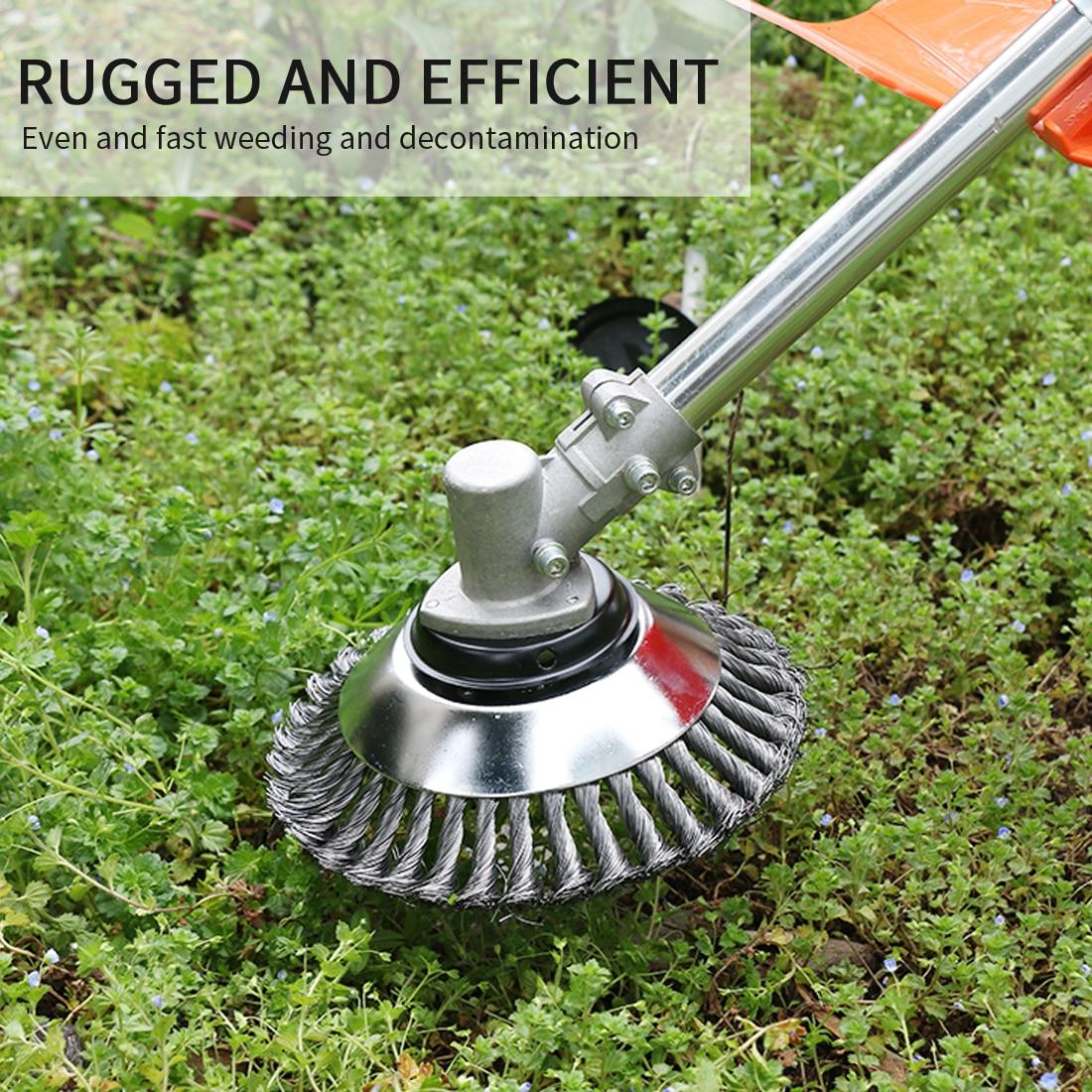 Садово-огородный инструмент, кисточки для подноса с металлическим лезвием для стрижки травы и удаления ржавчины, 150 мм/200 мм
