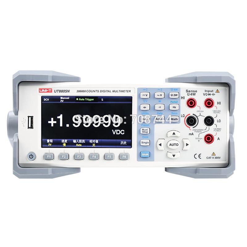UT8805N настольный цифровой мультиметр 5-битный полуавтоматический диапазон True RMS цифровой мультиметр/хранение данных