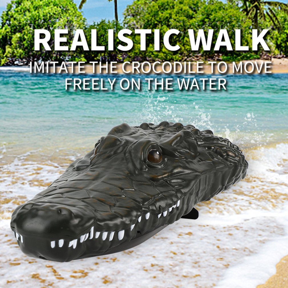 Crocodile Head RC Boat 2.4G Electric Simulation Vehicles RTR Model Funny Children Toys Rechargeable long battery life speed boat