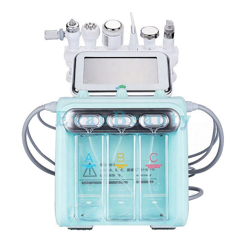 Portable 7 In 1 Dermabrasion Facial Deep Cleaning Hot And Cold Massage  Skin Tightening Oxygen Sprayer Skin Mouisture Machine