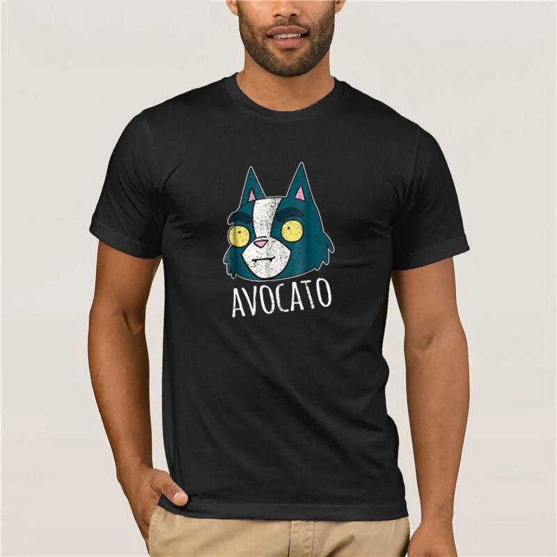 Camisetas cortas a la moda para hombre, marca para hombre, espacio Final, diseño desgastado Avocato, camiseta divertida de dibujos animados 100% de algodón para hombre
