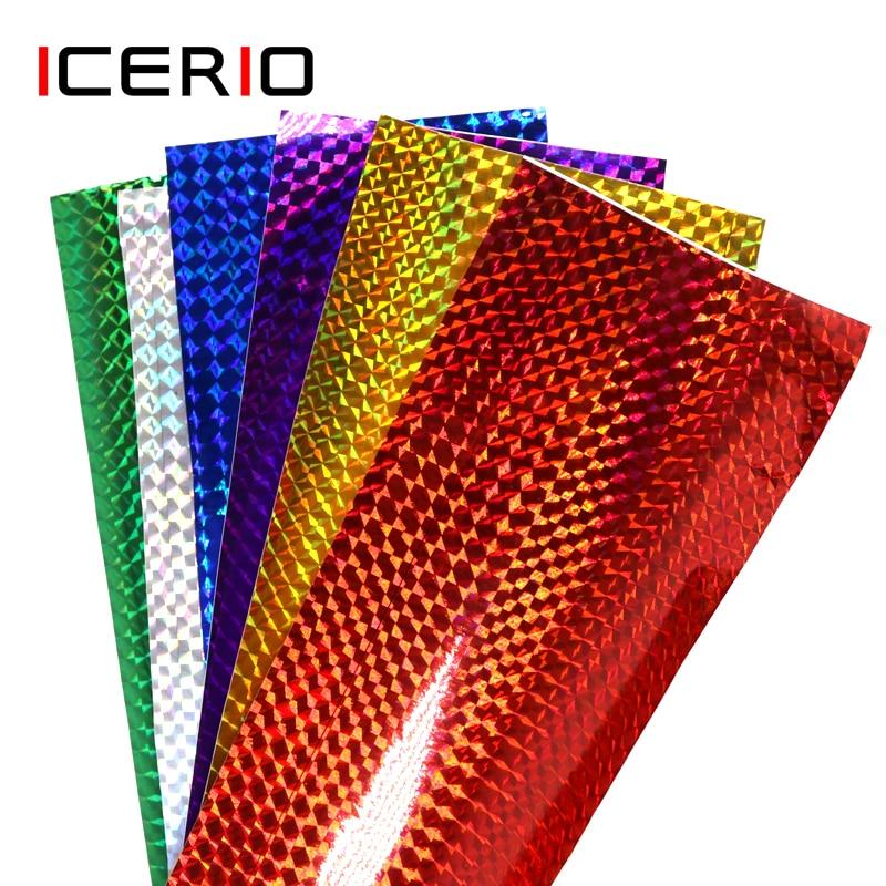 Клейкая Голографическая лента ICERIO, 6 шт., 10*20 см