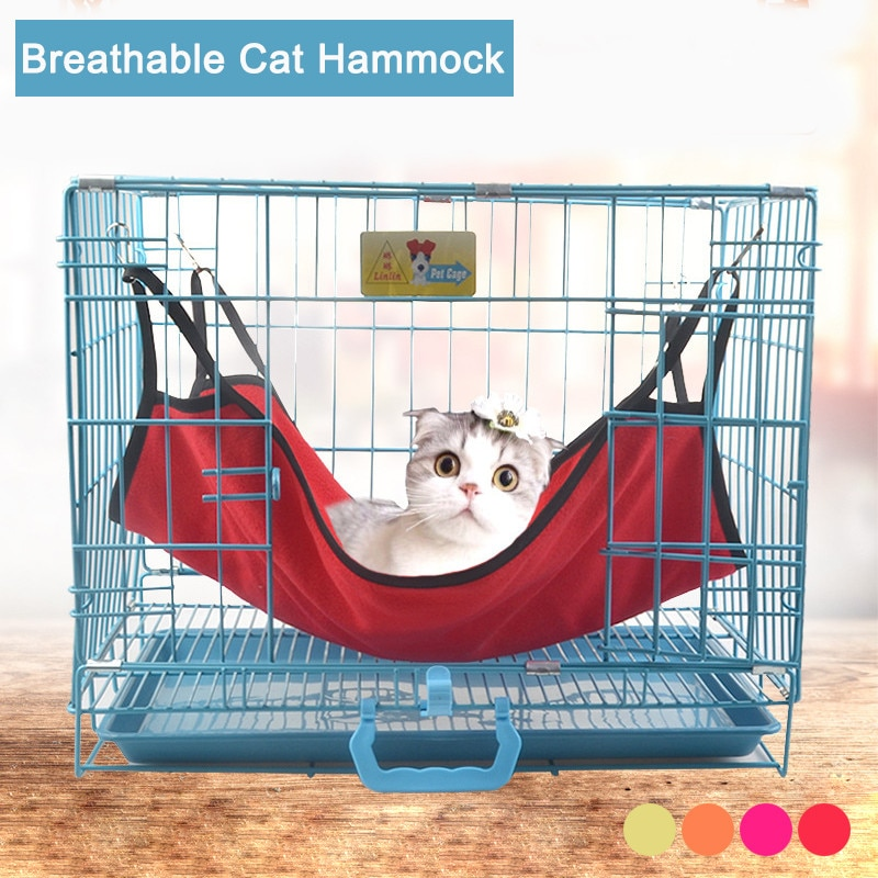 Hanging Cat Hammock Pet Supplies Cat Sleeping Bag Pet Cat Cage Breathable Cat Bed Mat Summer Accessories