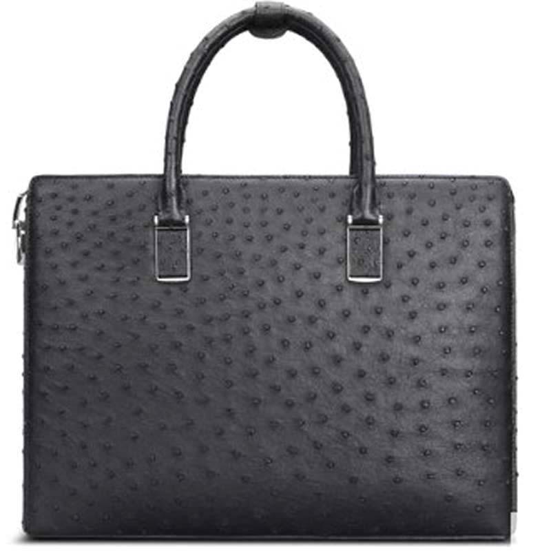 Cestbeau new  really Ostrich leather   ostrich leather men's bags  leather man  Lock men handbag men clutch bag