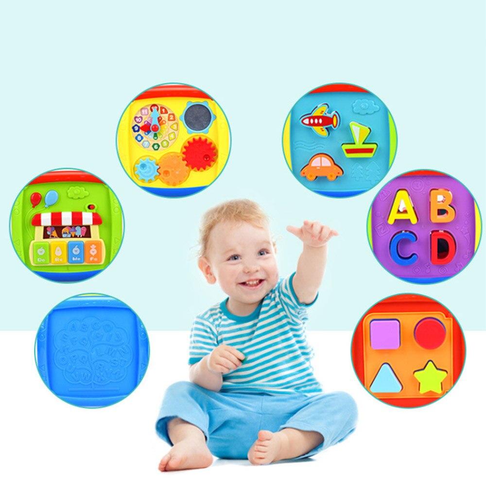 Строительный блок раннего образования шестисторонняя коробка для малышей 1 год развивающая головоломка подходящая игрушка BabyToys Platic музыка...