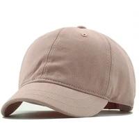 new women man baseball cap men summer thin fabric cotton sun hat girl male short peaked snapback hats 55 60cm