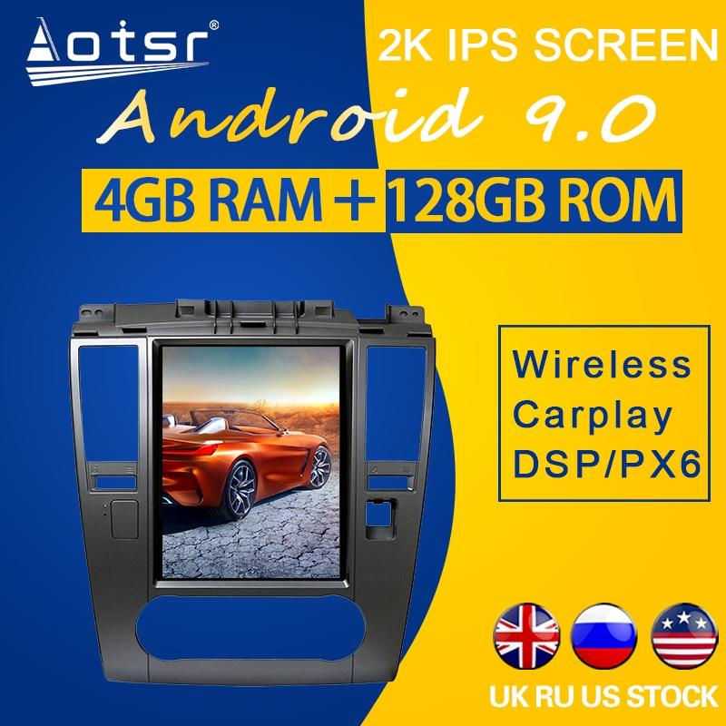 128GB ROM Für Nissan Tiida Versa 2008 2009 2010-2011 Android 9,0 Tesla Stil PX6 Carplay Auto GPS navigation Multimedia Player