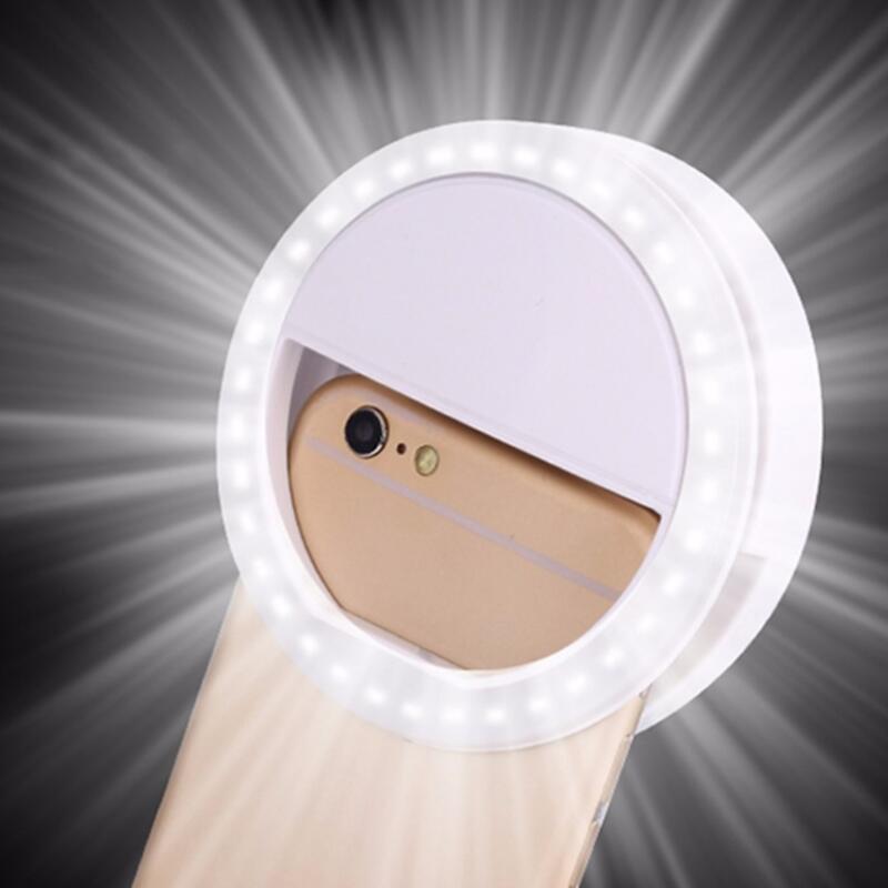 Портативная светодиодная вспышка для телефона, 36 светодиосветодиодный, кольсветильник светильник для селфи с зажимом для камеры, лампа для...