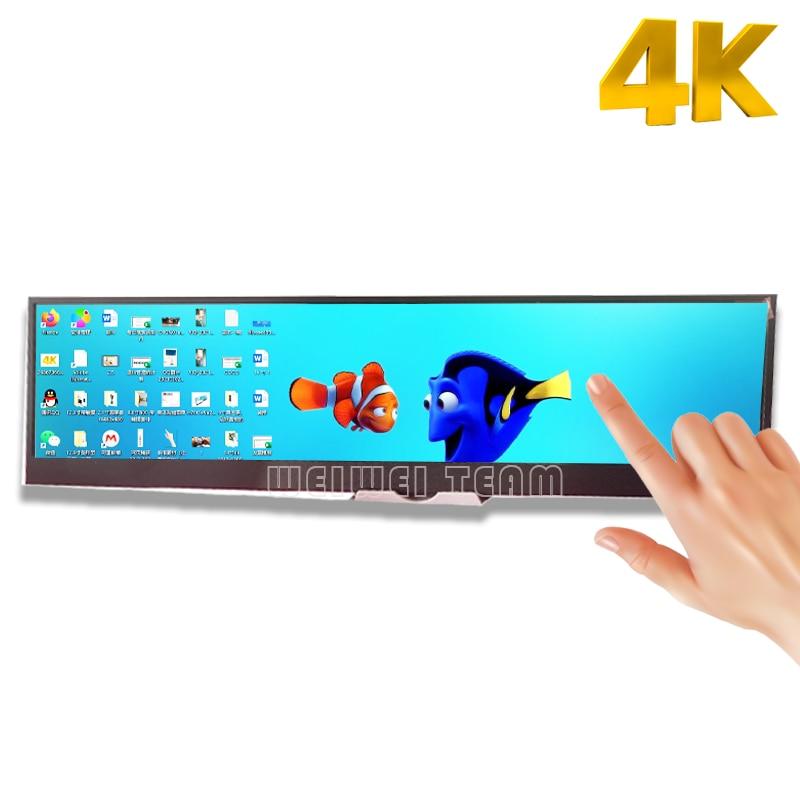 14 بوصة 4K اللمس رصد 3840X1100 DIY IPS LCD الألعاب وحدة التحكم لوحة dengan 60Hz تحكم المجلس ل الهاتف الخليوي التوت بي