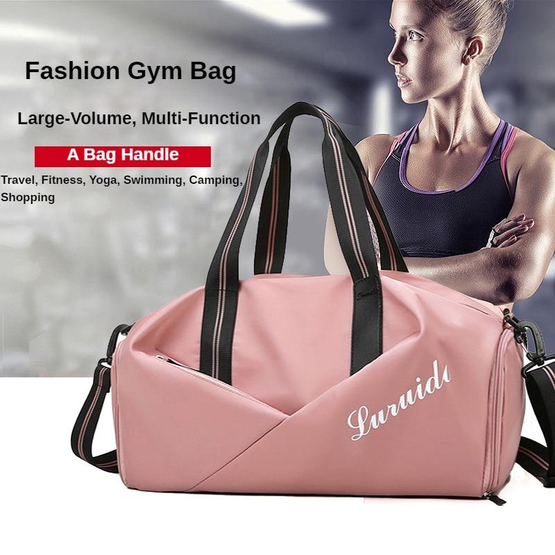 Sports Bag for Women Dry Wet Separation Shoes Luggage handbag Yoga Hand Bag  For Women Travel Gym sw