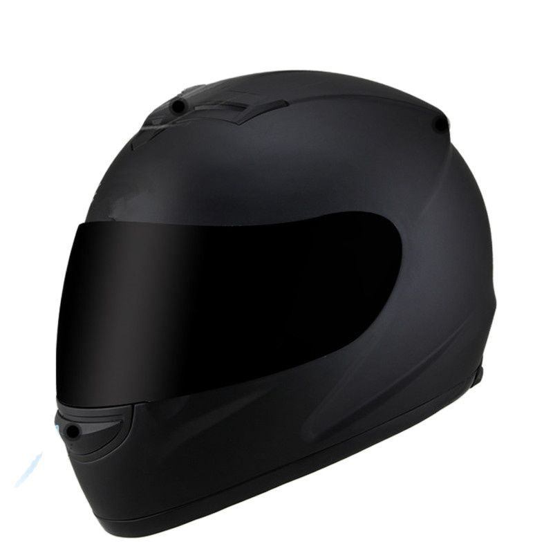 خوذة دراجة نارية ، غطاء دراجة نارية ، أسود غير لامع ، فيسبا