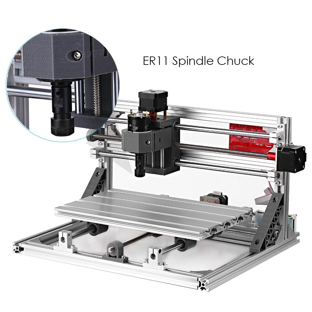 Herramienta de carpintería CNC 3018 GRBL, Control DIY, Mini máquina de grabado CNC, enrutador CNC, grabador láser con láser 500/2500/5500mw DIY