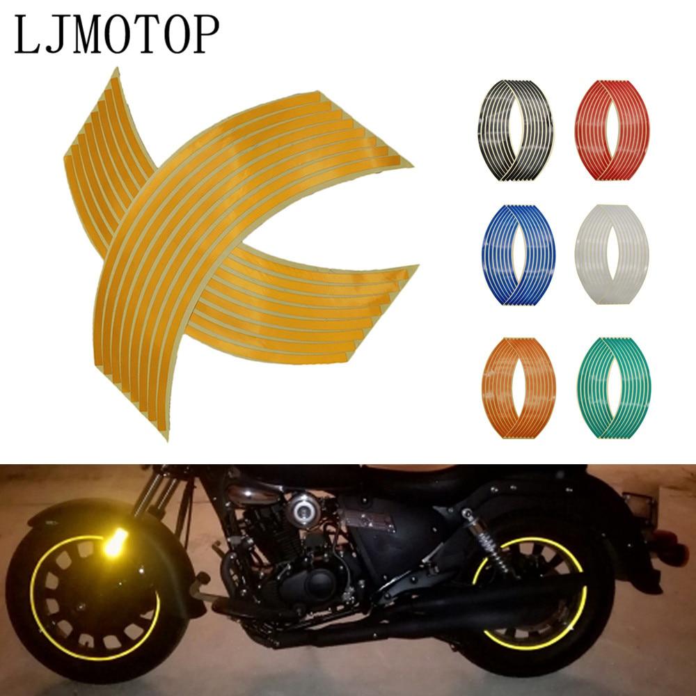 Adhesivo para rueda de motocicleta, pegatinas reflectantes para Motocross, tira de cinta para llanta para 300 Kawasaki NINJA 250R 400R ZX14R VERSYS 1000 Z1000SX