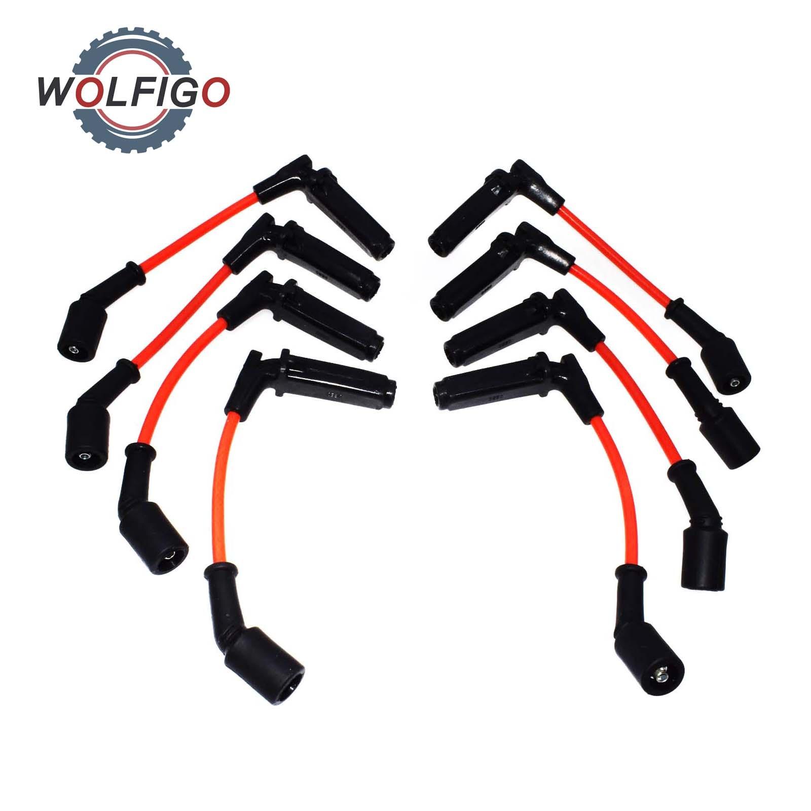 WOLFIGO 8 Pcs Spark Plug Ignition Wires for Chevrolet SSR Tahoe GMC Yukon Saab Buick Cadillac Pontiac Hummer 748RR 671-8161