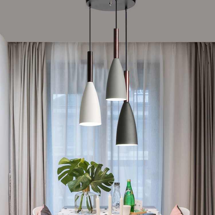 Lámpara colgante de hierro de Estilo vintage para el hogar, lámpara colgante...