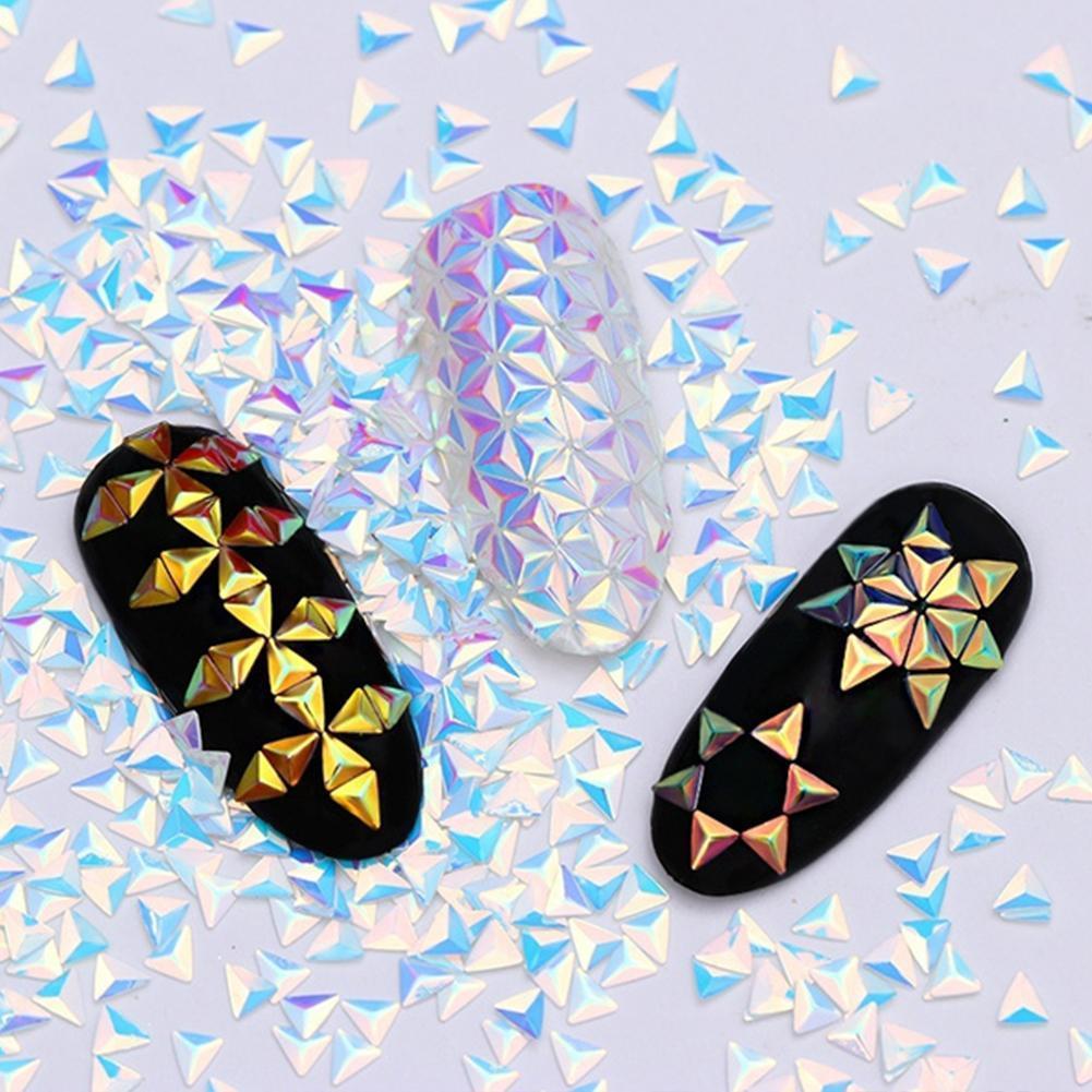 1 Box Chameleon Ab Color Nail Sequins Triangle Rhombus Glitter Manicure 3D Art Flakes Nail Colorful Decoration Paillette M8J2