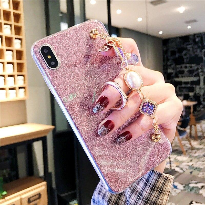 Glitter Rhinestone Caso Pulseira Para Samsung Galaxy M30 M20 M10 A90 A80 A70 A60 A50 A40 A30 A20 A10 A8S A6S A40S Covers
