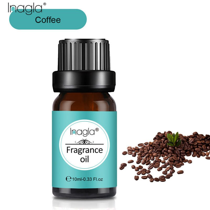 Inagla Coffee Fragrance Essential Oils 10ml Pure Plant Fruit Oil For Aromatic Aromatherapy Diffusers