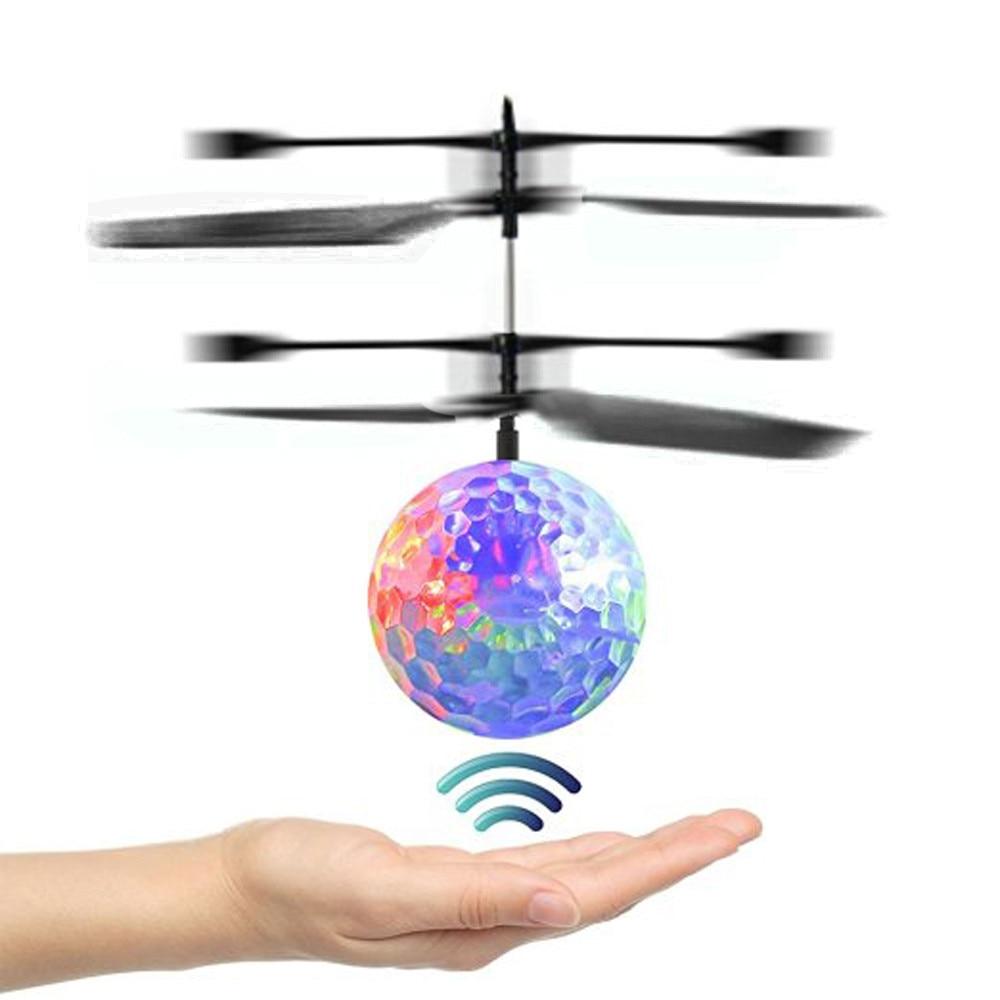 RC juguete EpochAir RC bola voladora, RC Drone helicóptero Ball built-in Shinning LED Lighting para niños adolescentes regalo de Navidad